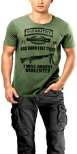 Army Infantry T-Shirt 11 Bravo Grunt Combat Veteran Earned Never Given