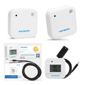 Inkbird Digitale Bluetooth Temperatur Feuchtigkeits Datenlogger Rekorder IBS-TH2