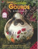 Great Garden Gourds Aurelia Conway Painting Book NEW Birdhouses