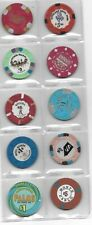 Nice Lot Of 10 Different Casino Chips From Various Nevada Casinos-Lot 1