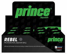 Prince Rebel Pro Squash Balls, Double Yellow Dot, Box of 12 Pcs.