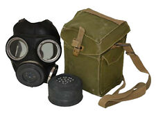 British Army WWII WW2 Vintage Gas Mask with Canvas Bag