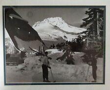 VINTAGE OLD TIMBERLINE LODGE MT HOOD ORGN SKI AREA PHOTO FRAMED