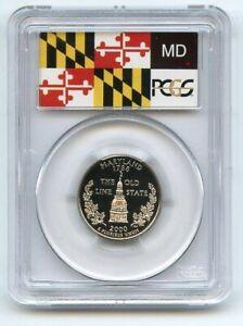2000 S 25C Clad Maryland Quarter PCGS PR70DCAM