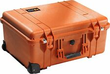 Pelican Model 1560 Large Case Watertight Orange No Foam Wheels  NIB