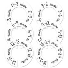 Large rods 6 baby closet size dividers white gender neutral nursery organizer