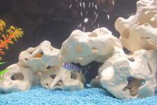 Aquarium Terrarium Dekoration  5 Lochsteine  Felsen Stein   Kein Plastik aus Ton