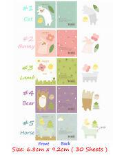 1pc Cartoon Animals Sticker Post it  Memo Bookmark Index Sticky Note Pad Flag