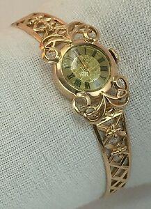 "Antique Vintage Original Soviet 14K 583 Rose Gold Mechanical Watch ""NAIRI"" USSR"