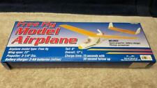 "Vintage Free Fly Model Airplane Battery Power Foam 23"" Wing Span Boxed Sealed"