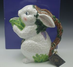 "CHRISTOPHER RADKO 2000 FERN MEADOW HARE PITCHER BUNNY EASTER 10"" NIB"
