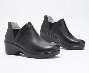 Alegria - Leather Ankle Wedge Boot - Natalee - Black - EU 40 US 9.5 - 10