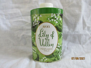 AVON LILY OF THE VALLEY TALC VINTAGE 200G TIN