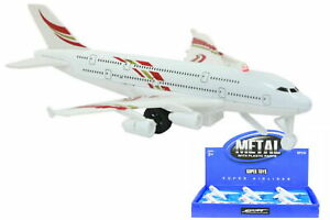Die Cast Pull Back Aeroplane with Sound Plastic Toy