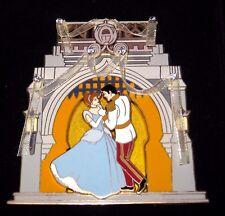 Le Jumbo Art of Disney Pin✿Princess Cinderella Prince Charming Dancing Ribbons