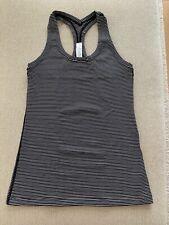 Lululemon Cool Racerback Women's Tank Top - Hype Stripe UK Size 10 / US Size 6