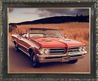 1964 Pontiac GTO Ron Kimball Vintage Classic Car Wall Decor Art Framed Picture