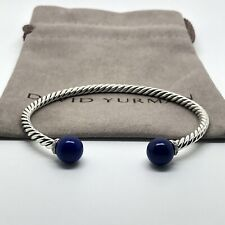 David Yurman Solari Bracelet w/ Diamonds and Lapis Lazuli M