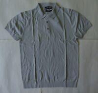 JF J. Ferrar Casual Short Sleeve Woven Polo Shirt Size Large Gray Slim Fit P $30
