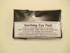 MENS UNCENTED FRAGRANCE FREE BLACK COTTON EYE PACK MASK WHEAT BAG MIGRAINE YOGA