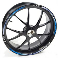 Auen Sticker Wheel Rim Yamaha Mt-07 Mt07 MT 07 Blue Strip Tape Vinyl Adhesive