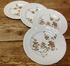Coalport England Samarkand Asian Apricot Floral Rim Tree 4 Bread Plates 16268