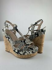 760fa364988 NEW Women s ALDO Nydaycia Wedge Sandals Natural Print Size 6.5 B SZ 6 1 2