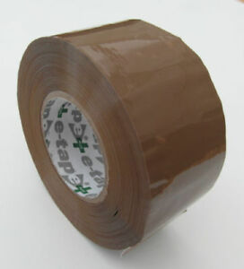 E-TAPE PREMIUM QUALITY PACKING TAPE 150 METRE ROLLS / SELLO TAPE BROWN BUFF TAPE