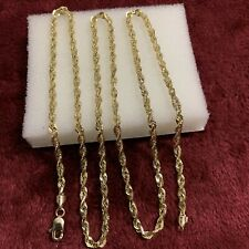 24 Inches 10 kt yellow gold 10.3 Grams solid / heavy chain lobster lock