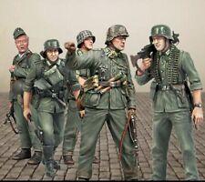 1/35 soldados alemanes sin montar sin pintar KIT de modelo de resina (5 Figuras) (e)