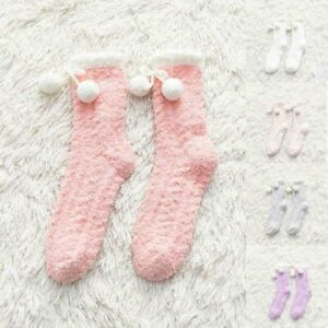 Winter Bed Soft Floor Cosy Ladies Lounge Fluffy Socks 1Pairs Decor Heart Warm