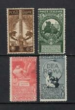 Italy 1911 Complete Set - OG MH - SC# 119-122  Cats $109.40