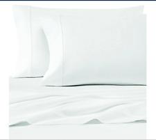 Wamsutta 500-Thread-Count Pima Cotton Sofa Bed Full Sheet Set Solid White