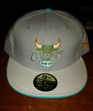 NEW ERA 59FIFTY CAP CHICAGO BULLS WINDY CITY GRAY YELLOW TEAL