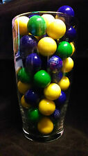 "Dubble Bubble Green, Purple & Yellow Theme 1"" Gumballs  2  Lbs"