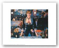 RESTAURANT ART PRINT Bar at the Folies Bergere Edouard Manet 14x11