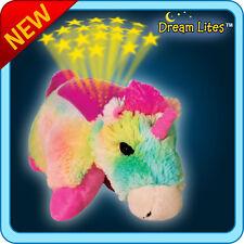 NEW DREAM LITES PILLOW PETS Rainbow UnicornStarry Night DELUXE VERSION W/ADAPTER