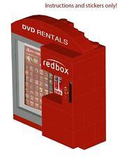Movie Kiosk Vending Machine Instructions Stickers 4 LEGO 10185 10224 10182