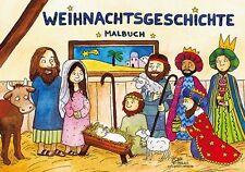 *Weihnachten*Die Weihnachtsgeschichte* Malbuch*Malblock*DIN A5*Grätz-Verlag*