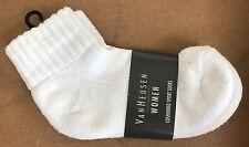 RARE VAN HEUSEN WOMENS TENNIS CUFF SOCKS USA VINTAGE UNUSED w/ LABEL WHITE ANKLE