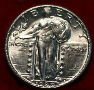 Uncirculated 1929 Philadelphia Mint Silver Standing Liberty Quarter