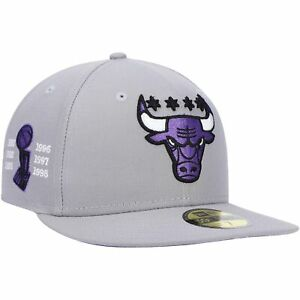 Chicago Bulls New Era 6x NBA Finals Champions Side Patch Collection 59FIFTY