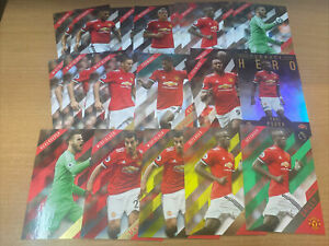 2017 Manchester United Topps Premier Gold Lot 23,Base Terrace Red Yellow & Green