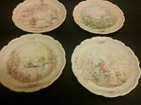 Royal Doulton 4 Plates - The Wind in the Willows - Complete Set