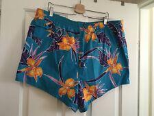 Vintage 70s 80s Mens 2XL Swim Shorts Trunks Barefoot Dreams Tiki Indie Hipster