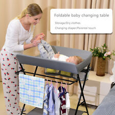 New listing Baby Infant Changing Table Folding Diaper Station Nursery Organizer w/ Storage