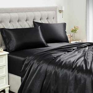 Sweet Home Collection 1500 Supreme Silky Smooth Satin Sheet Set