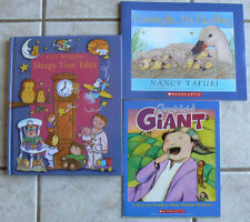 3 Bedtime books:Five Minutes Sleepy Time Tales HB,Goodnight Giant&My Duckling
