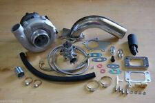 T3/T4 Hybrid Turbocharger Kit T3 T4 Turbo -3an ss feed, Downpipe, BOV, Stage 1
