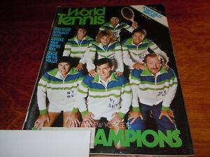 """VINTAGE NOVEMBER 1976 """" WORLD TENNIS """" TENNIS MAGAZINE"""